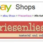 ebay Shop von Friesenliese